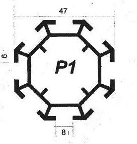 پروفیل آلومینیوم پارتیشن p1