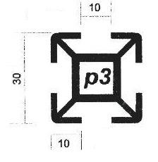 پروفیل آلومینیوم پارتیشن p3