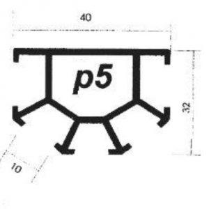 پروفیل آلومینیوم پارتیشن p5
