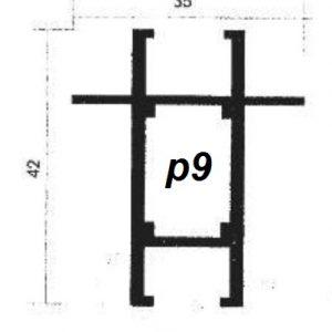 پروفیل آلومینیوم پارتیشن p9
