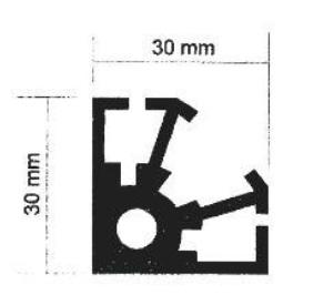 پروفیل آلومینیوم پارتیشن یک چهارم هشت پر