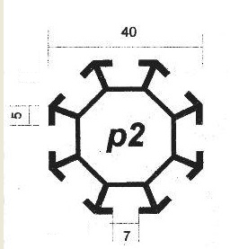 پروفیل آلومینیوم پارتیشن p2